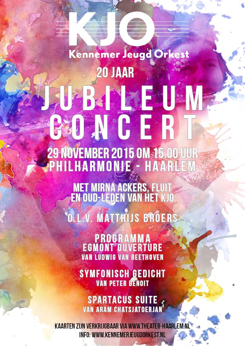Najaars JUBILEUM concert 2015 mmv Oud-leden KJO