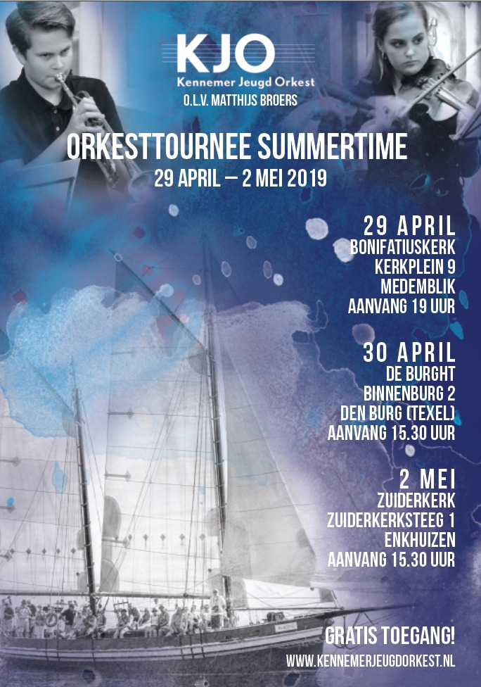 Orkesttournee 2019: 29 april Medemblik